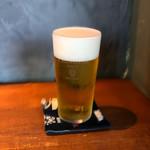 酒と炭焼 おかげさん - 入れ方満点生ビール
