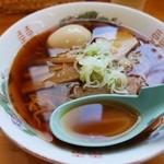 くどうラーメン - スープ きれいィ(^-^)
