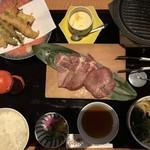 常盤和み家 - 牛たん焼き天婦羅定食 (正式名失念)