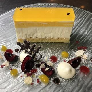 【季節限定】パッションフルーツのチーズケーキ