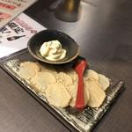 日本酒原価酒蔵 - いぶりがっこクリームチーズ