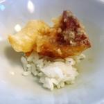 河太郎 - 天つゆをたっぷり付けてミニ天丼にすると感動の味