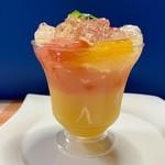 仙臺菓匠 宮城野 - 一目見て気に入った、「オレンジとグレープフルーツのゼリー」♡