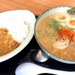 ゆにろーず - 料理写真:にんたま味噌ラーメンカレーセット【Jly.2019】