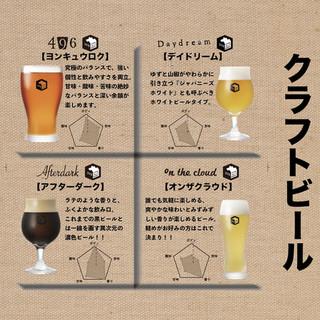クラフトビールを4種類取り揃え!!