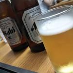 お好み焼大文字 - ビールは瓶のアサヒでした。