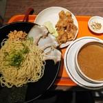 天馬らぁめん - つけ麺 とんこつ 唐揚げ3個セット