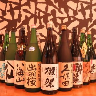 厳選地酒20種~◎贅沢な海の幸をつまみにたしなむ銘酒は最高!