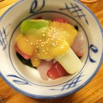 羽田市場 - 海鮮ぬた(380円)