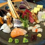 神田魚金 - お手頃三点盛(3名様向け)1580円