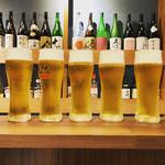 ふるはうす - 壮観な5人分のビール