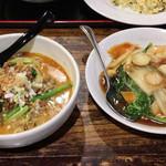 唐居 - 坦々麺+中華丼セット