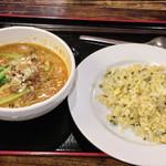 唐居 - 坦々麺+チャーハンセット