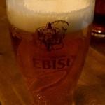 備長炭や いこる - まずはビール。