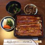 小川家 - 鰻重(竹) 肝のつくだ煮