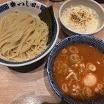 つじ田 - 「カレー南蛮つけ麺」980円+「炙りチーズ飯」200円