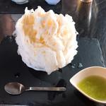 喫茶 紬 - 天然氷 メロン
