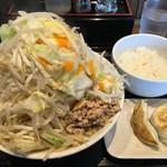富士タンメン - 鶏白湯タンメン 富士山盛り 餃子3個+半ライスセット