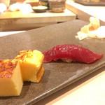 鮨 天海 - 漬け鮪とタマゴ