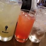 Bothy - 北海道余市ぶどうナイアガラ酒ソーダ割&カンパリソーダ&ゆず梅酒ソーダ割