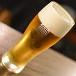 シネマカフェ・ピッツェリア・バール - 樽生ビール 一番搾り(600円+税)