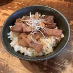 客野製麺所 - ミニ炙り肉飯