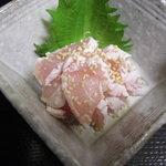 豊吉 - 高鮮度 鳥取県産 大山鶏の鶏わさ