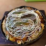 113366291 - 広島焼き(野菜、麺ダブル)
