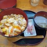 113366445 - ほろほろ鳥の親子丼(スープ付き)