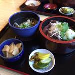 竹 - 料理写真:あずまセット1000円