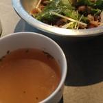 B2 - 料理写真:ランチ 選べるサラダとコンソメスープ