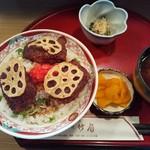 竹扇 - 料理写真:れんこん蒲焼丼定食785円