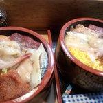 吉江寿司 - 料理写真:大盛と普通盛比較