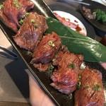 Yakinikuhorumonsegare - お肉のお寿司