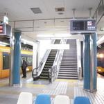 11338165 - 大阪難波駅ホーム この真上にTime's Placeがあります。