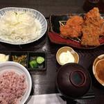 とんかつ浜勝 - アジフライとトンカツ膳