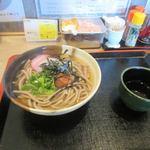 麺家れもん - 私が頼んだのは祖谷そば430に梅おろし100円をトッピング。