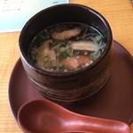中国精進料理 凛林 - 桜スープを鴨燻スープへ変更