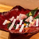 とりやき oniya - 鶏刺し盛り合わせ