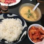 113398797 - 玉子スープ・キムチ・ご飯