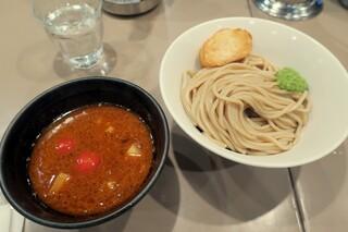 つけ麺 五ノ神製作所 新宿店 - ・「海老トマトつけ麺(¥950)」