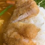 リッチなカレーの店 アサノ - リッチなカツカレーの豚カツ断面