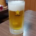 鳥源 - 生ビール 550円