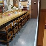 鳥源 - 店内 カウンター席