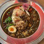 113418430 - 麻婆キーマ咖喱と魯肉スパイス咖喱の2種あいがけ