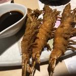 全席個室 居酒屋 九州和食 八州 - 天使海老の一本串揚げ