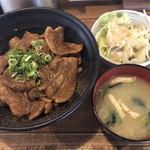 串揚げじゅらく - しびれ豚丼のBセット 830円