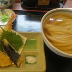 うどん 蔵十 - 料理写真:冷かけと天ぷら