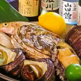 新鮮な魚介を寿司を中心に、お造り・焼き物と様々にお出しします