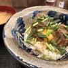 オキナワ食堂 ばるやパーラー - 料理写真:ラフテー丼ランチ。味噌汁付き。